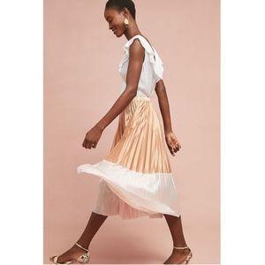 ANTHROPOLOGIE Cheri Pleated Skirt